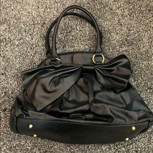 Large Black Tote w/ Bow 🎀